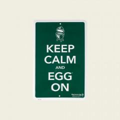 Tekstbord groen – Keep calm and EGG on