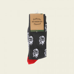 Socken - EGGs | grau-rot