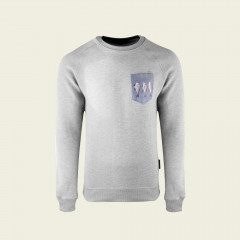 Sweater - Fish Art special edition - lichtgrijs
