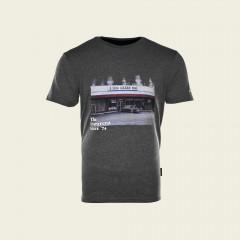 T-Shirt – The Evergreen Since '74 – holzkohlengrau