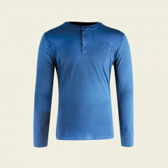 Big green egg langarmshirt Blau